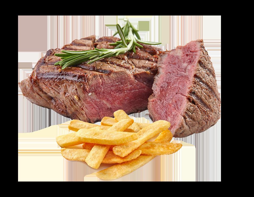 Steak und Fleischgerichte der Speisekarte